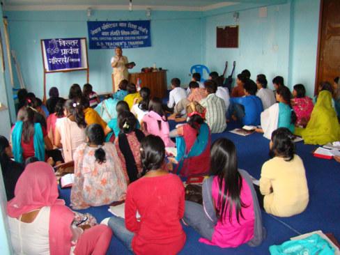 Bohoslužba v nepálské církvi